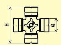 Крестовина карданного вала (D=52; H=147,2) аналог /GKN U450, U451,U909/ VOLVO, IVECO, DAF, SCANIA, MAN