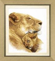 Набор для вышивания крестом Crystal Art Безмятежный сон (львы)