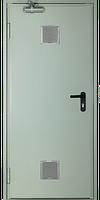 Дверь одностворчатая противопожарная с вентиляционной решеткой EI260 C5