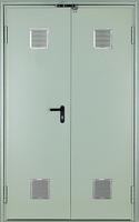Дверь двустворчатая противопожарная с вентиляционной решеткой EI290 C5