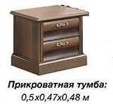 Тумба прикроватная С-2 орех (ТМ Скай)