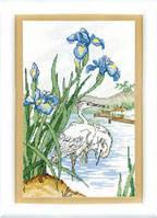 ВТ-049 Набор для вышивания крестом Crystal Art На пруду (аисты)