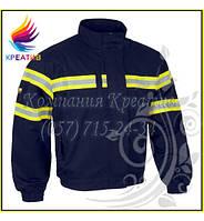 Куртка рабочая со светоотражающими полосами (от 50 шт.)