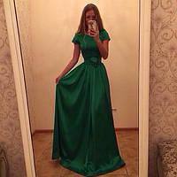 Платье макси короткий рукав