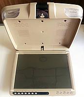 Монитор автомобильный потолочный Klyde Ultra KU 3137D DVD / USB / SD / TV BG бежевый
