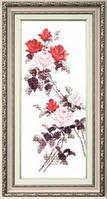 Набор для вышивания крестом Crystal Art Этюд с красными розами