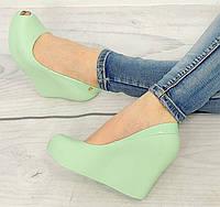 Яркие летние женские боссоножки, туфли зеленого цвета