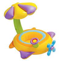 """Детский надувной круг для плавания с сиденьем и навесом INTEX 56580 """"Самолетик"""" (142х80 см), фото 1"""