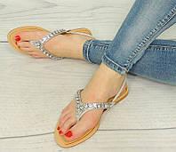 Женские сандалии, босоножки без каблука серебристые