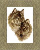 Набор для вышивания крестом Crystal Art Волк и волчица