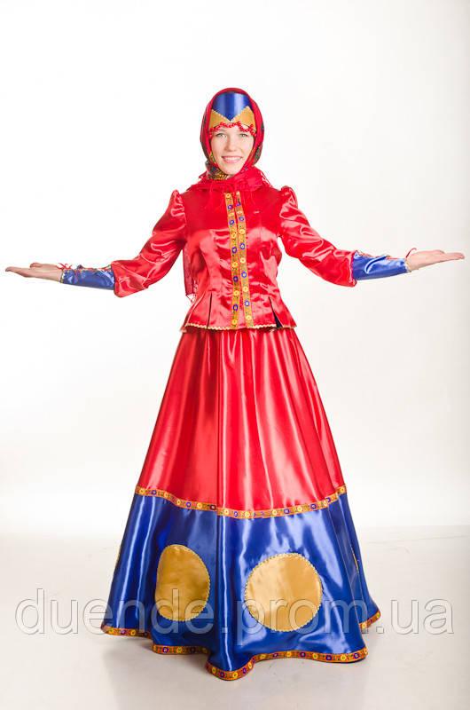Масленица женский карнавальный костюм / BL - ВЖ168