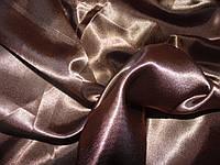 Атлас сатин светло коричневый
