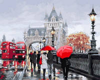 Раскраска по цифрам Турбо Осень в Лондоне (VP552) 40 х 50 см