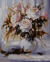Раскраска по номерам DIY Babylon Белые розы (VP571) 40 х 50 см