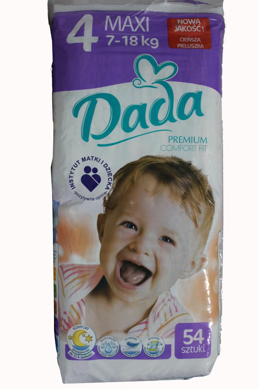 Dada Premium 4 подгузники 7 - 18 кг 54 шт - Интернет магазин