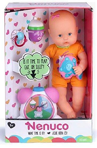 Кукла пупс Nenuco от Famosa  с аксессуарами Nenuco What Time Is It? Baby Doll Set