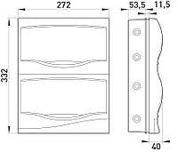 Корпус пластиковый 24-модульный e.plbox.stand.w.24, встраиваемый