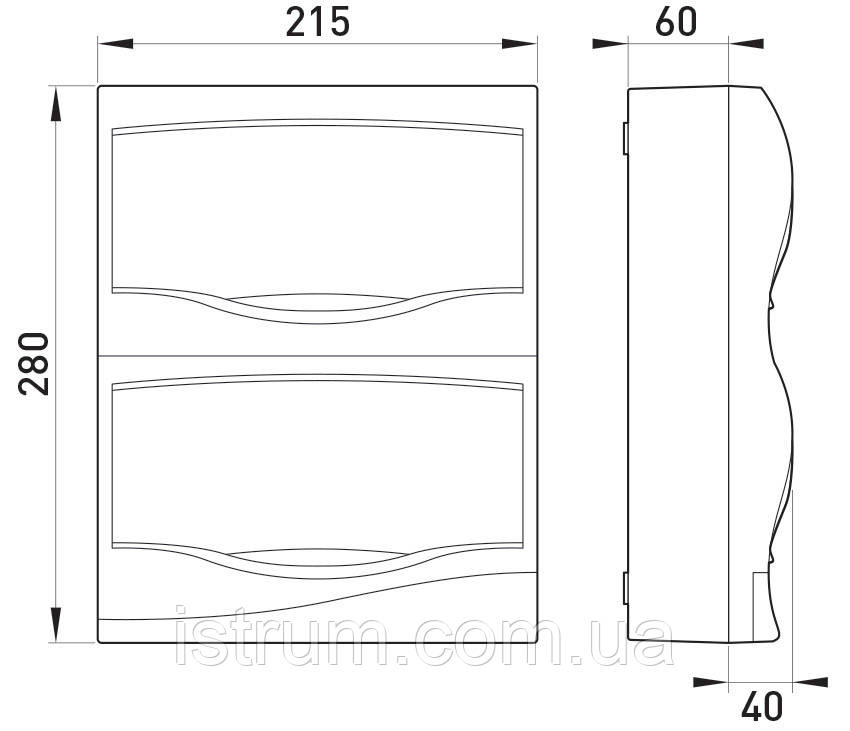 Корпус пластиковый 16-модульный e.plbox.stand.n.16, навесной