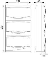 Корпус пластиковый 36-модульный e.plbox.stand.n.36, навесной