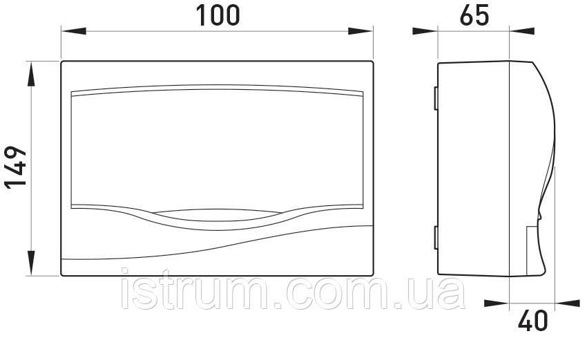 Корпус пластиковый 2-модульный e.plbox.stand.n.02, навесной