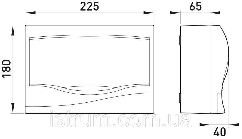 Корпус пластиковый 9-модульный e.plbox.stand.n.09, навесной