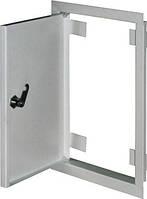 Дверцы металлические ревизионные  e.mdoor.stand.300.400.z 300х400м c замком