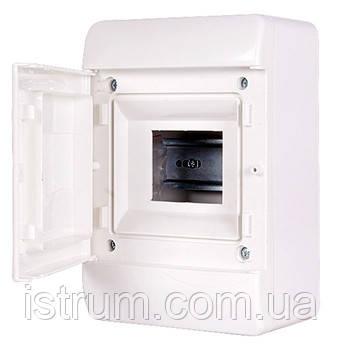 Корпус пластиковый навесной (NT) 5--модульный, однорядный,  IP 40, с непрозрачной дверкой