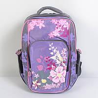 Модный школьный рюкзак в цветок для девочки - 87-1073