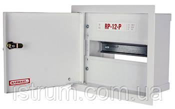 Шкаф распределительный e.mbox.RP-12-P-Z мет. встраиваемый, 12 мод. c замком, 215х255х125 мм