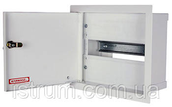 Шкаф распределительный e.mbox.RP-6-P-Z мет. встраиваемый, 6 мод. c замком, 215х150х125 мм