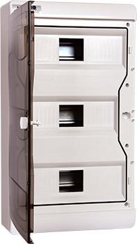 Корпус пластиковый навесной (NT) 37-модульный, трехрядный, IP 40
