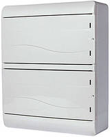 Корпус пластиковый навесной (NT) 26-модульный, двухрядный, IP 55 c непрозрачной дверкой