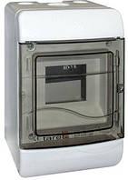 Корпус пластиковый навесной (NT) 5-модульный, однорядный, без дверцы IP 40