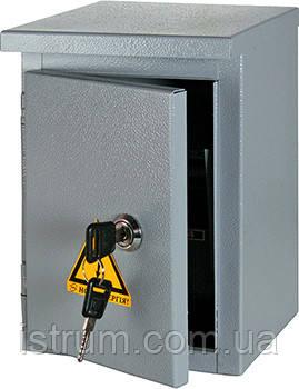 Шкаф e.mbox.stand.n.12.z металлический, под 12мод., герметичный IP54, навесной, с замком