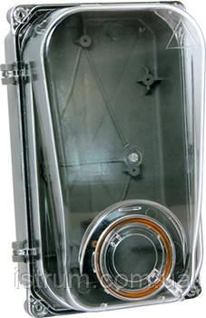 Шкаф пластиковый e.mbox.stand.plastic.n.f1.pe прозр. под однофазный счетчик, навесной