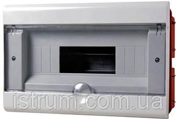 Корпус пластиковый 8-модульный e.plbox.stand.w.08, встраиваемый