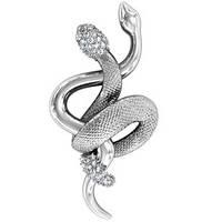 Подвеска серебряная Две Змеи 410770