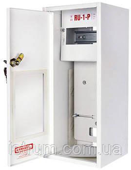 Шкаф распределительный e.mbox.RU-1-P-Z мет. навесной, 1-ф. счетчик,6 мод. замком, 395х175х165 мм