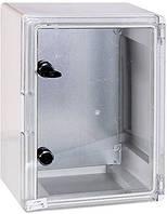 Шкаф ударопрочный из АБС-пластика e.plbox.300.400.195.tr, 300х400х195мм, IP65 с прозрачной дверцей
