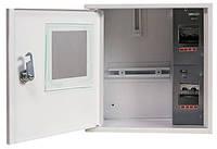 Шкаф e.mbox.stand.n.f1.04.z металлический, под 1-ф. счетчик, 4 мод., навесной, с замком