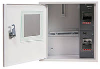 Шкаф e.mbox.stand.n.f1.04.z.e металлический, под 1-ф. электронный счетчик, 4 мод., навесной, с замком