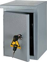 Шкаф e.mbox.stand.n.04.z металлический, под 4мод., герметичный IP54, навесной, с замком
