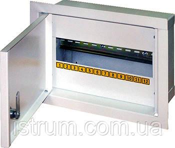 Шкаф распределительный e.mbox.stand.w.12.z под 12 мод. встраиваемый с замком