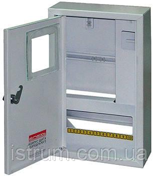 Шкаф распределительный e.mbox.stand.n.f3.12.z.e под трехфазный электронный счетчик+ 12 мод., навесной замком