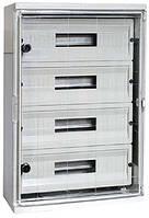 Шкаф ударопрочный из АБС-пластика e.plbox.350.500.195.45m.tr, 350х500х195мм, IP65 с прозрачной дверцей и панелью под 45 модулей