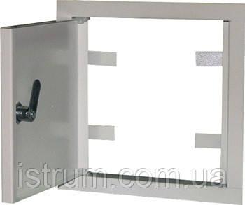 Дверцы металлические ревизионные  e.mdoor.stand.250.250z 250х250м с замком