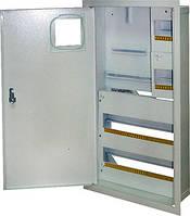 Шкаф e.mbox.stand.w.f3.36.z.e металлический, под 3-ф. электронный счетчик, 36 мод., встраиваемый с замком