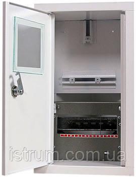Шкаф распределительный e.mbox.stand.w.f1.08.z под однофазный счетчик+ 8 мод.страиваемый замком