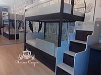 Двухъярусная кровать из ясеня с лесницей - комодом для двоих деток! , фото 1