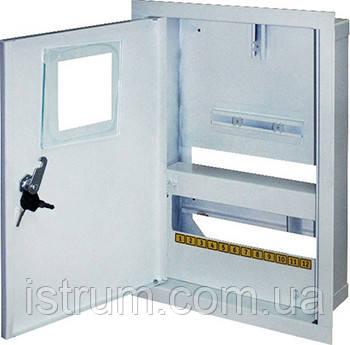 Шкаф распределительный e.mbox.stand.w.f1.12.z.e под однофазный электронный счетчик+ 12 мод.страиваемый замком